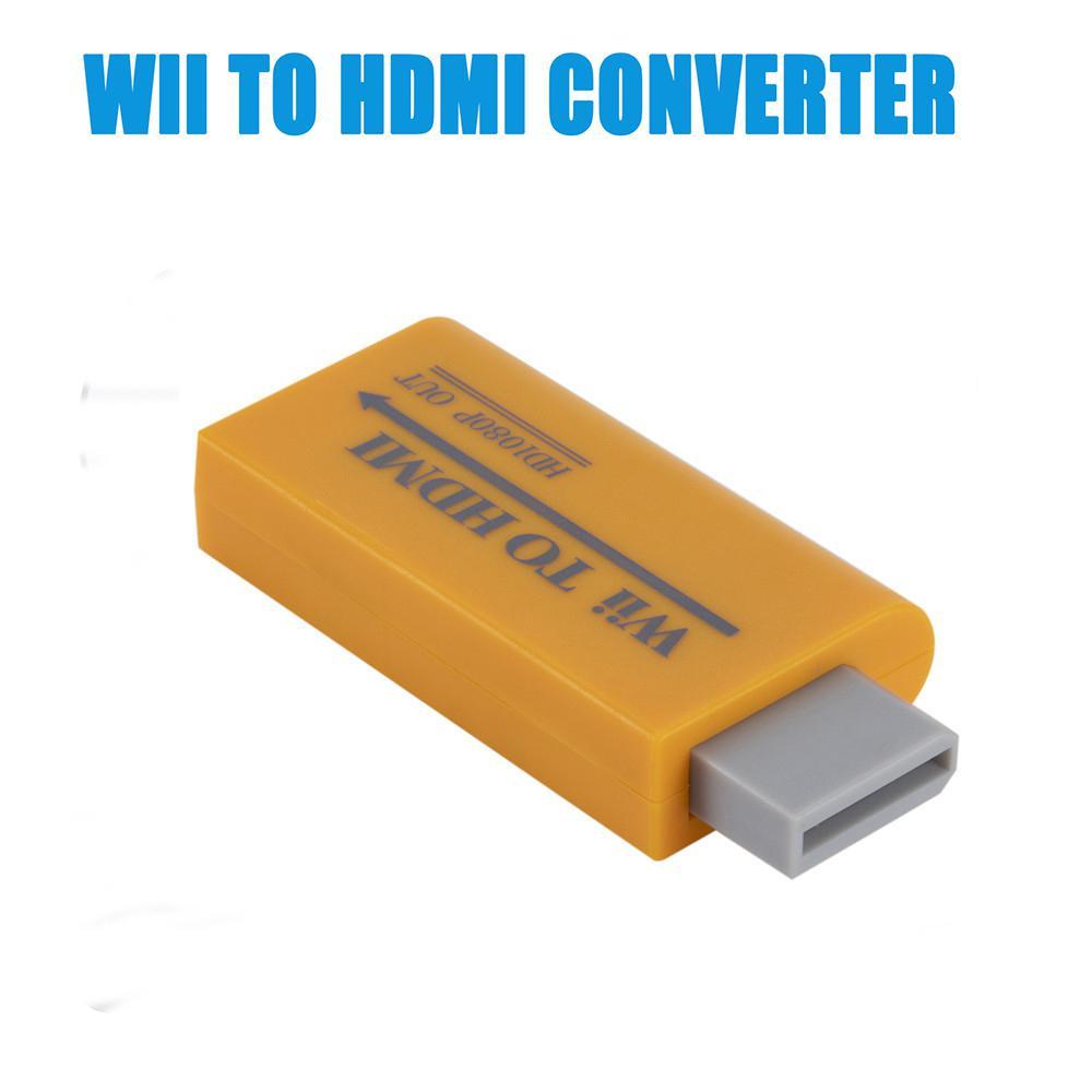Para convertidor de Wii a HDMI adaptador de conector AV Full HD 1080P Wii a HDMI 3,5mm Audio para ordenador HDTV Monitor pantalla