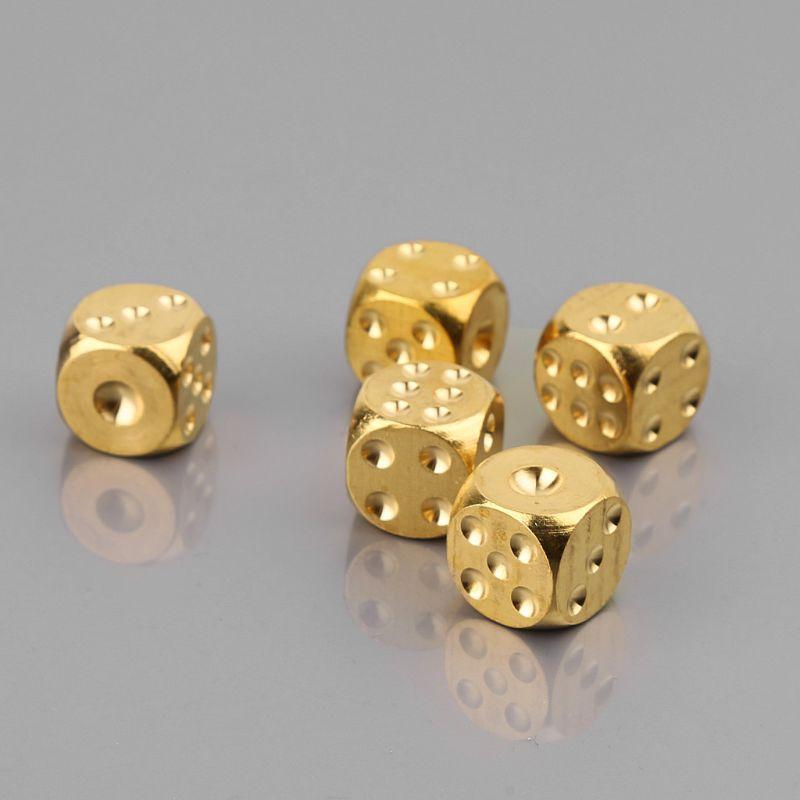 1 pieza sólido pulido dado de latón 20mm cubo de Metal cobre barra de póquer juego de mesa regalo juegos de mesa Accesorios