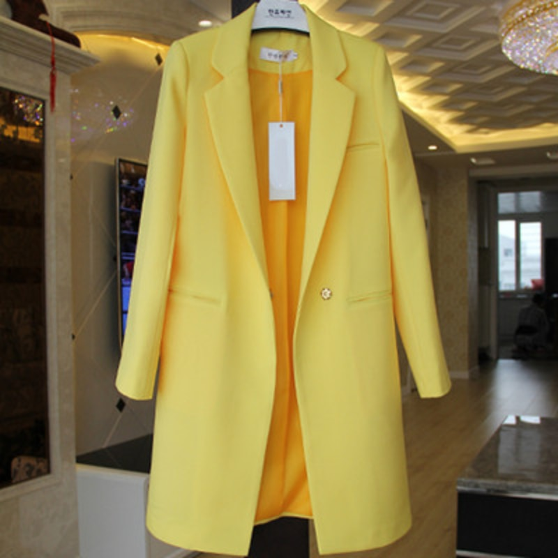العلامة التجارية الأوروبية كاندي نمط الألوان السترة Feminino أحدث 2021 ربيع الخريف النساء ملابس طويلة فضفاضة معطف غير رسمي سترة نسائية