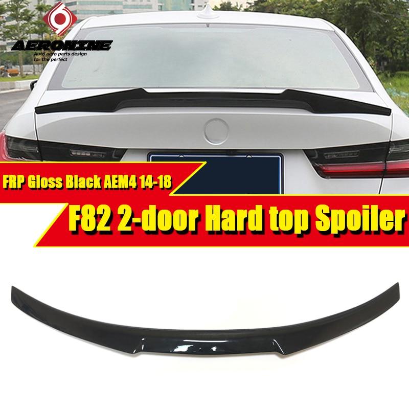 Alerón F82 M4 alerón trasero maletero Duckbill M4 aspecto FRP negro brillante agregar en el estilo No se adapta a taladro para BMW 2 puertas Tapa dura 14-18