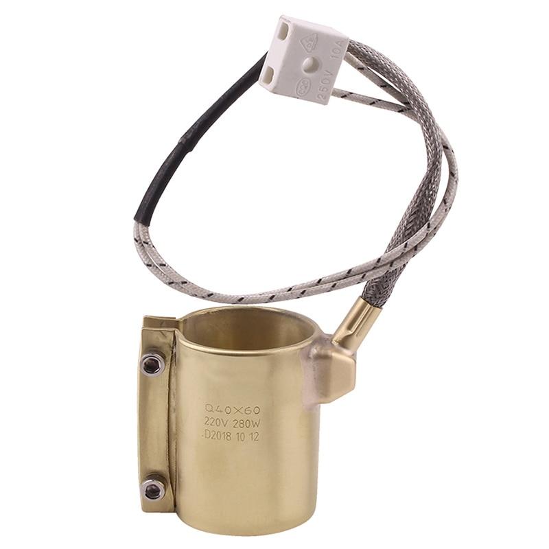 SHGO HOT-220V 280W 40x60mm boquilla de latón tipo Correa máquina de moldeo por inyección partes para máquina de moldeo por inyección