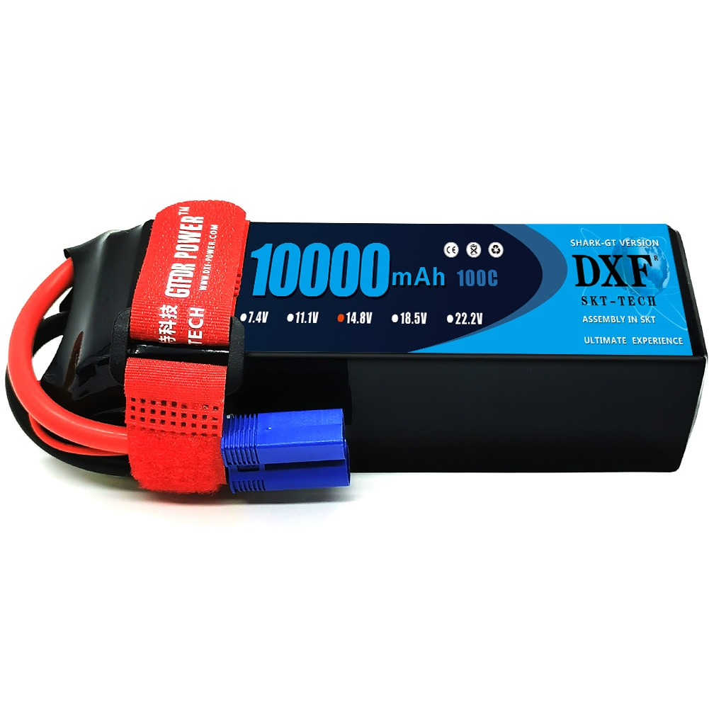 DXF Lipo Battery 4S 14.8V 10000mAh 100C 200C Deans/T XT90 EC5 XT90S for RC 1/8 1/10 Car Truck Tank RC Models XXMAX 8S Arrama 8S enlarge
