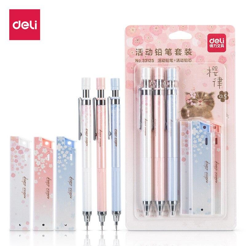 0,5 мм милый свежий Вишневый Сакура механический набор карандашей для студентов автоматический карандаш школьные офисные принадлежности Escolar Papelaria