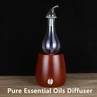 Diffuseur dhuile essentielle Pure  sans eau  diffuseur dair pour aromatherapie  nebuliseur en verre en bois pour la maison