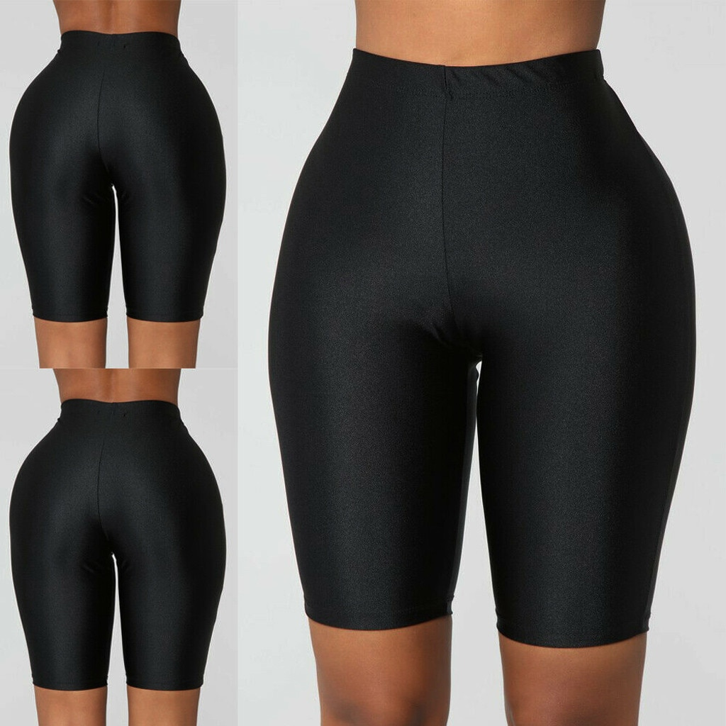 Leggings sexys para mujer, pantalones cortos deportivos de cintura alta elástica para bicicleta de Fitness, Leggings informales para mujer