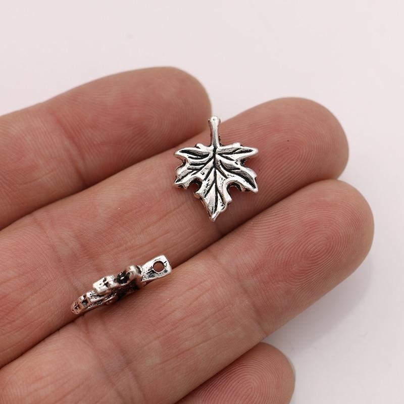 JAKONGO 10pcs Maple leaf Charms Pendants for Jewelry Making Bracelet DIY Accessories 17x14mm