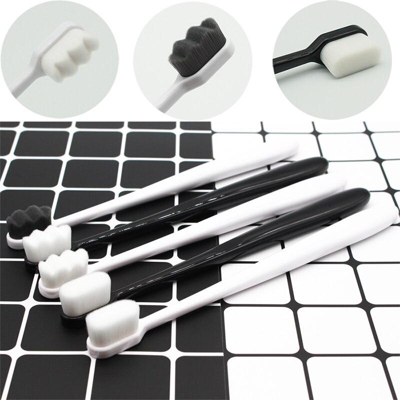1 pc ultra-fino escova de dentes macia viagem portátil eco-friendly escova de cuidados com os dentes ferramenta de limpeza oral com caixa