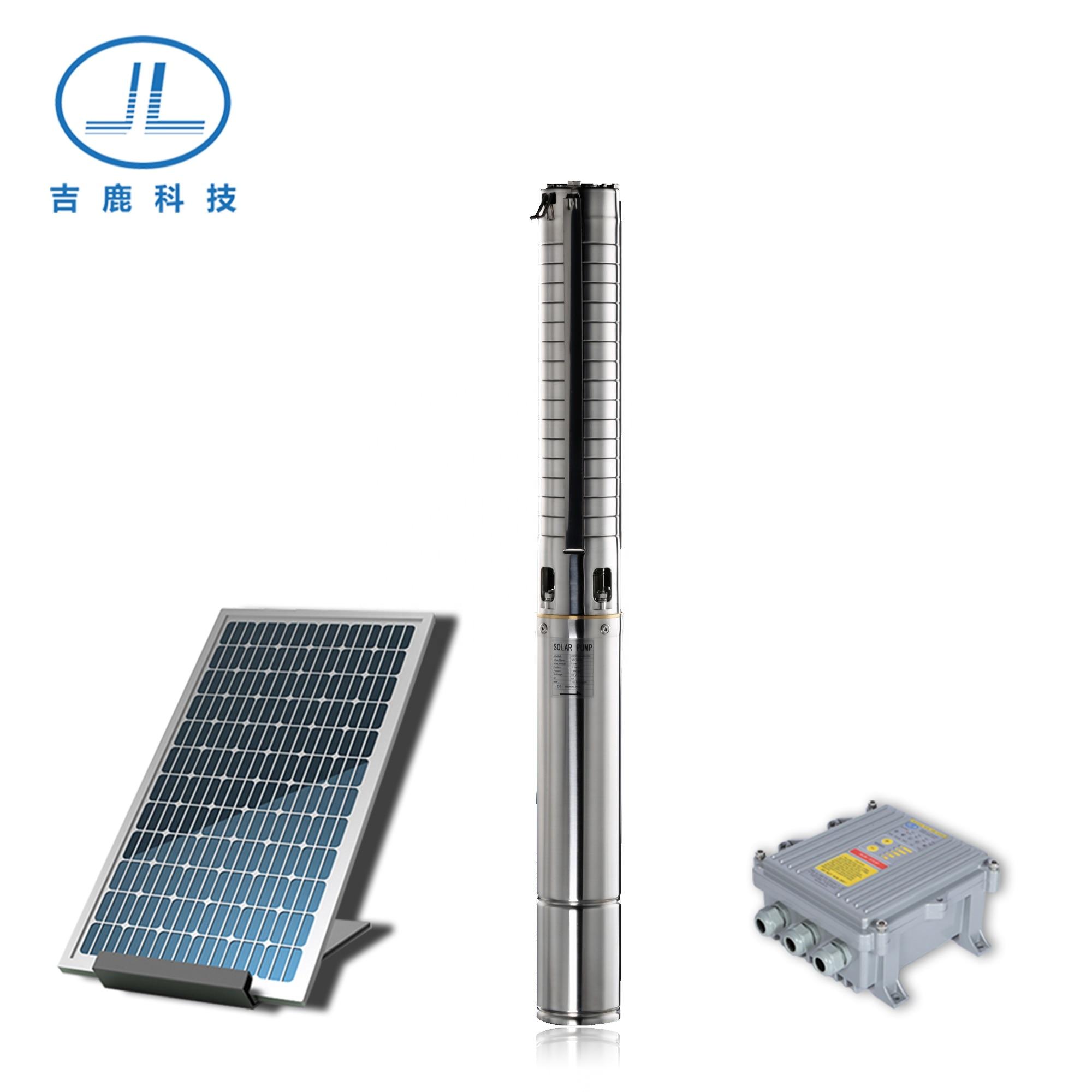 4 بوصة 2.4HP بئر مضخة غاطسة بالطاقة الشمسية لبث المباشر الشرب عمر طويل
