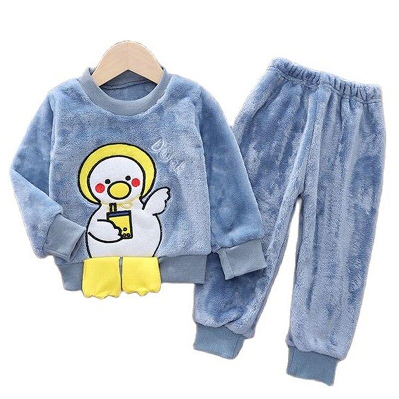 conjunto de pijamas de flanela para criancas roupas infantis para meninos e meninas inverno 2021