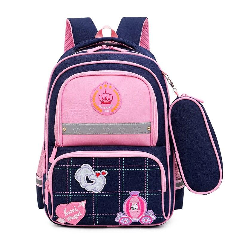 Детский школьный портфель для мальчиков и девочек, водонепроницаемый рюкзак для начальной школы, ортопедический детский школьный ранец