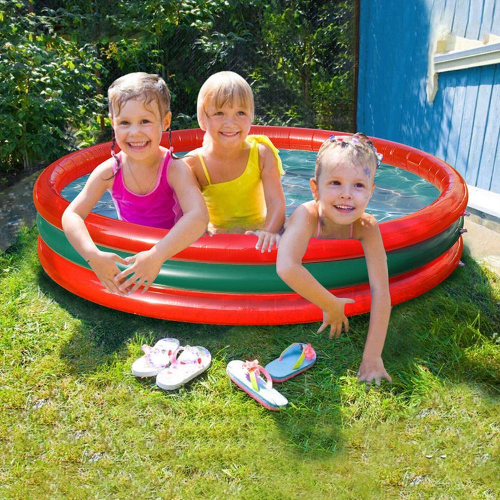 الصيف حمام سباحة قابل للنفخ الاطفال التجديف لعب الأطفال حوض مستدير حوض الاستحمام المحمولة حديقة البطيخ تجمع التجديف