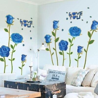 Pegatinas sofá juguete de dibujos animados puede eliminar una rosa romántica decorativo niños juguete oro azul demonio Ji habitación de matrimonio Tv configuración