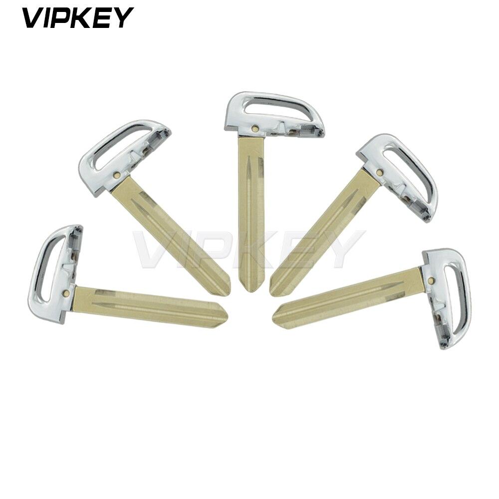 Mando a distancia, 5 uds., nuevo estilo, llave inteligente de repuesto, llavero sin cortar para Hyundai Kia, llave de coche de emergencia