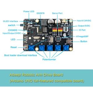 Adeept Arduino Compatible DIY 5-DOF Robotic Arm Kit Stem Robot Arm Kit For Arduino UNO R3 Programming Toy High Quality