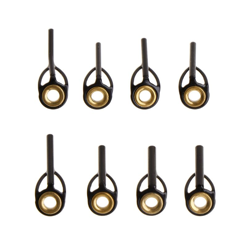 Vara de pesca superior guia anel linha ponta 0.9mm-1.6mm aço inoxidável diy olho anéis pólo kit reparação acessórios substituição