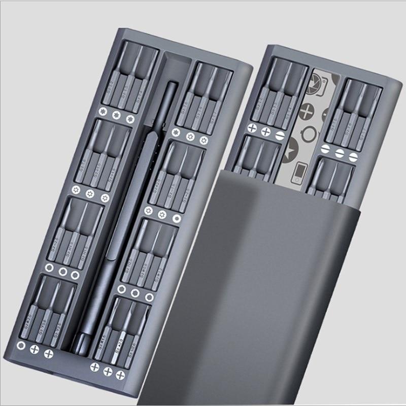 49 em 1 ferramentas de ferragem combinação chave de fenda conjunto liga alumínio caixa chave de fenda ferramentas reparação e manutenção máquinas