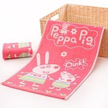 Peppa Pig-serviettes Jacquard pour enfants, serviette en coton Original, serviette de lavage pour bébés à la maternelle