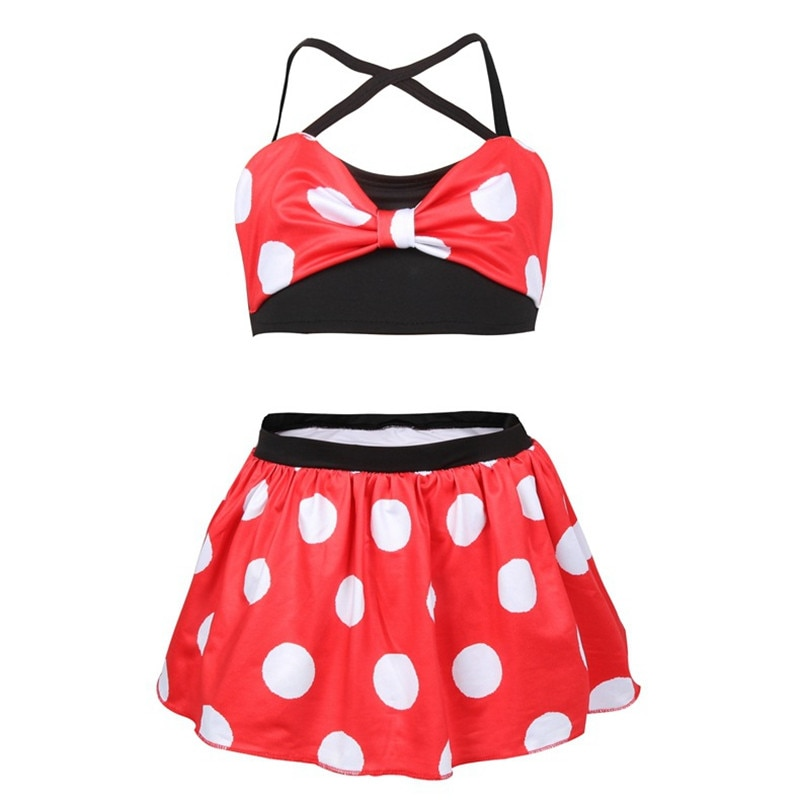 Conjunto de ropa de verano 2020 para niñas, traje de Cosplay de Anime Anna Elsa informal para niñas, traje de baño de playa para niños, Bikini de princesa