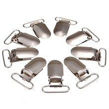 30 pces metal suspender pacifier cinta fita grampos titular gancho