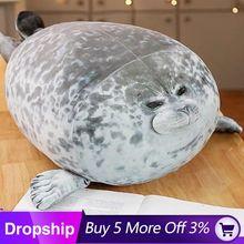 Cute Seal pillow Sea Lion Plush Toys 3D Novelty Throw Pillows Soft Animal Baby Sleeping Pillow Sofa Cushion Kids Girls Gift