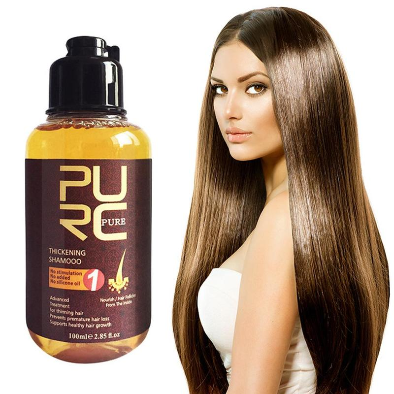 PURC Ginger champú esencial para el cabello cuidado hierbas tratamiento para la prevención de la pérdida de cabello promover el crecimiento champú nutre el cuidado del cabello