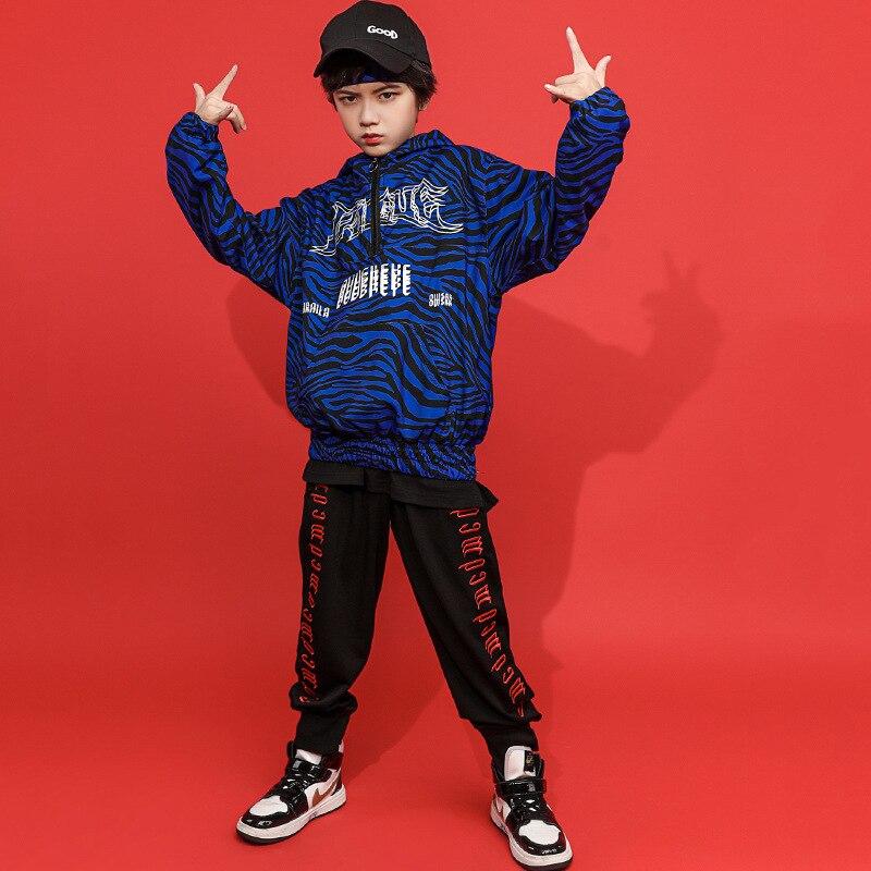 Ropa de hip-hop párr niño cebra bomber abrigo de ropa de calle...