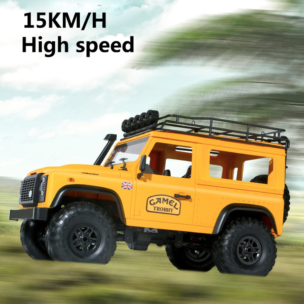 1/12 Big Rc Car MN98 2.4G 4WD Radio Controlled Truck Buggy offroad Bigfood Cars Defender with stickers lights Toys for boys Kids enlarge