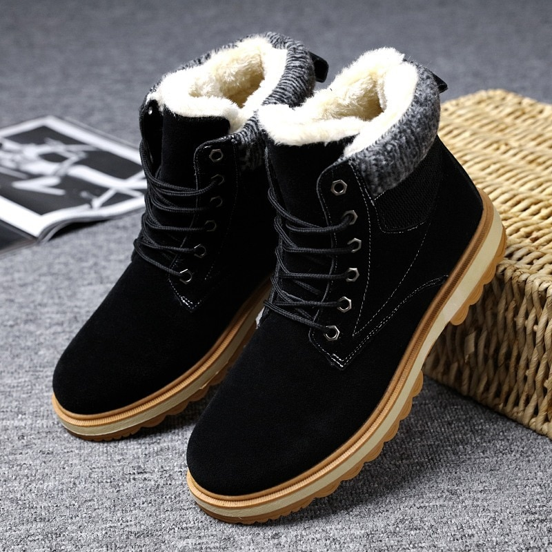 Big Size Autumn Winter Men  Boots Slip-On Boots Leather Breathable Ankle Boots Male Shoes  timber land shoes