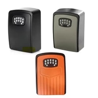 tuya smart key lock box wall mounted zinc alloy key safe box weatherproof with code storage lock box for indoor outdoor