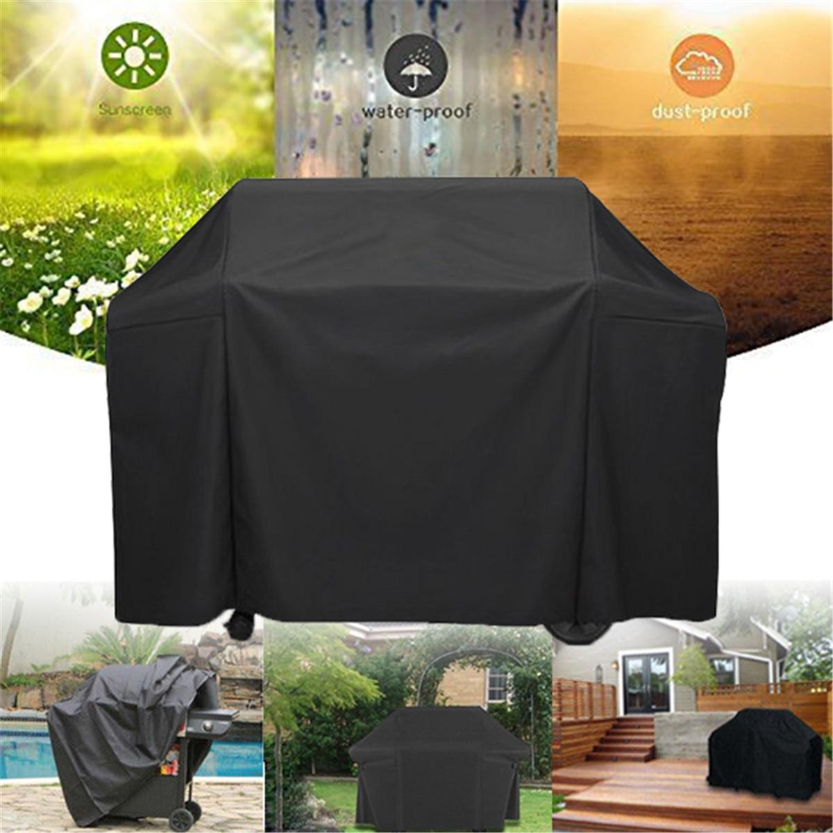 Черная крышка гриля для барбекю 165X64X113cm с сумкой для хранения для гриля для барбекю на природе, 7131 Genesis II
