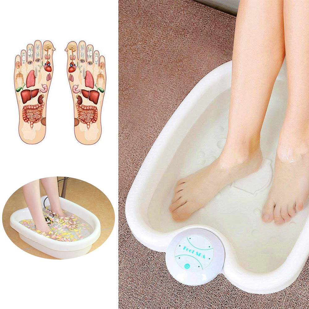 Lonic Foot Bath Detox MachineWithMassage Function Foot Tub,2 Arrays For Home Use Beauty Salon Spa Club Or As Holiday Travel Gift enlarge
