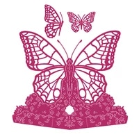 butterfly 3d shape metal cutting dies scrapbook diary decoration stencil embossing template diy greeting card handmade 2021 new