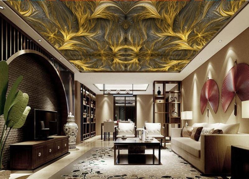 Arte geométrico europeo mural cenital murales de techo 3d papel tapiz techos...