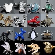 As high quality men's CUFFLINKS NEW turtle horse hawk lobster wings Penguin bee Cufflinks men's Wedd