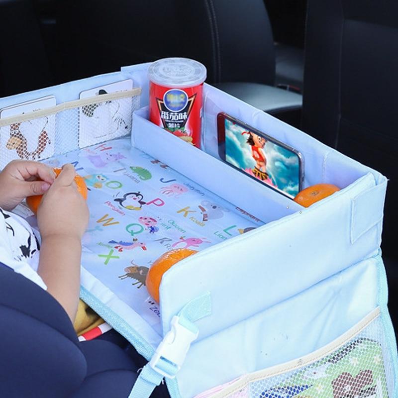 مقعد سيارة للأطفال مضاد للماء ، صينية عربة ، لعبة أطفال ، حامل طعام ، طاولة سيارة محمولة ، تخزين طاولة ، جديد
