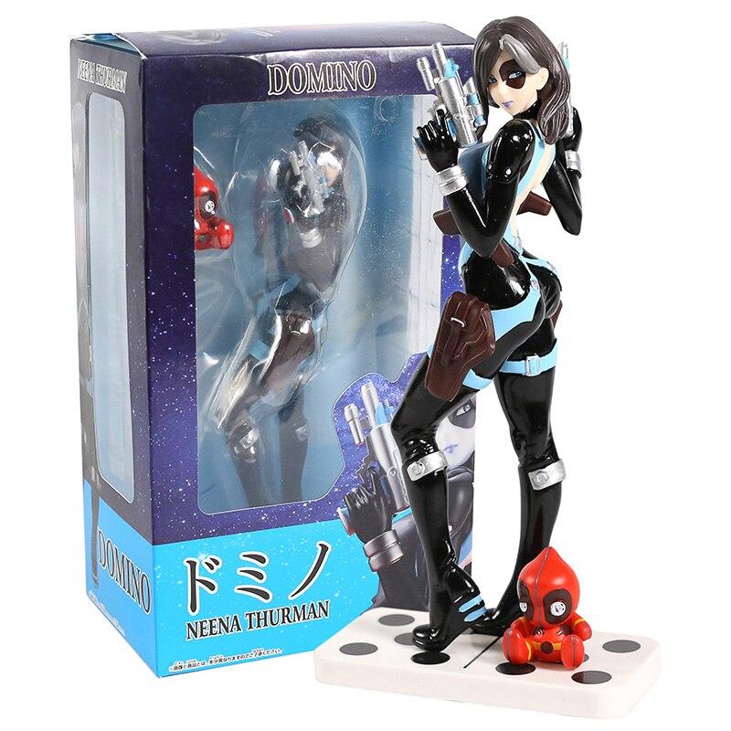 Figura de x-men de PVC, Domino Neena Thurman, juguete de modelos coleccionables
