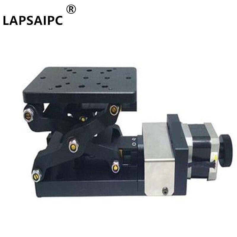 Lapsaipc, PT-GD401PT-GD401, Mini mesa de elevación eléctrica de desplazamiento de precisión, eje Z, movimiento de plataforma, 60mm, tamaño 120*80mm