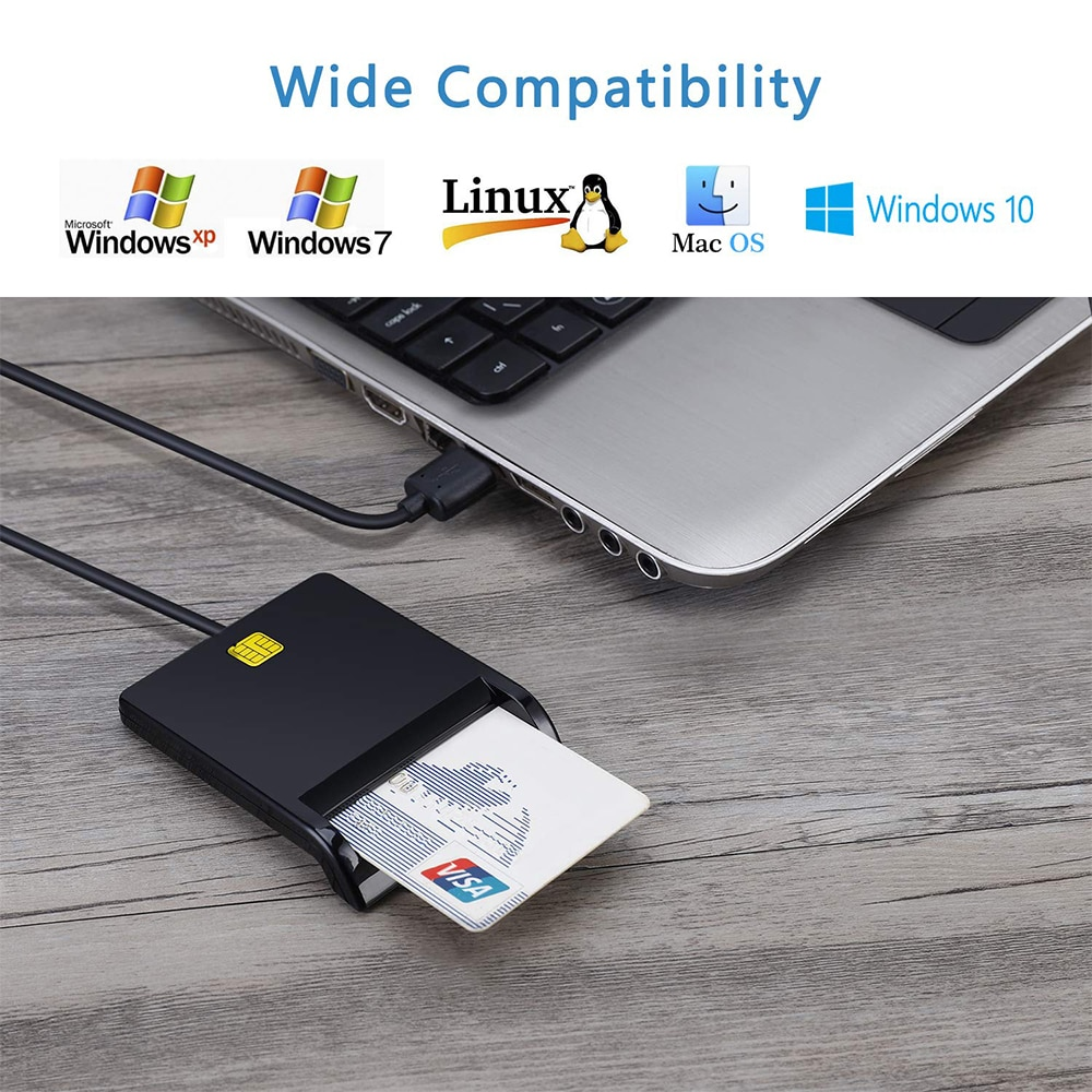 Card Reader Portable USB 2.0 Smart Card Reader DNIE ATM CAC IC ID Bank Card SIM Card Cloner Connector for Windows Linux enlarge