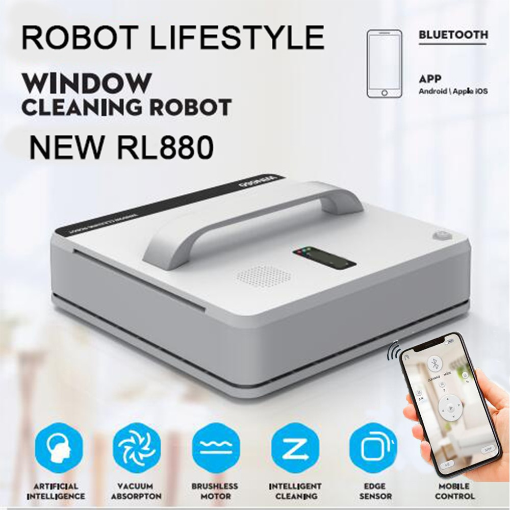 Household Smart Window Cleaner Robot Sweeper High Suction Wet Dry Wiping Automatic Robotic Vacuum RL880