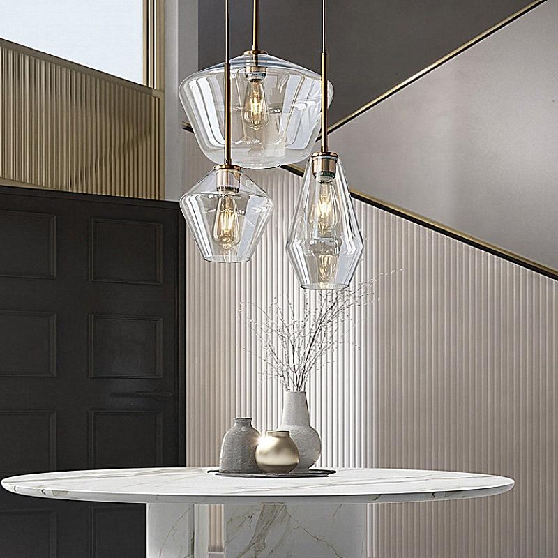 مصباح زجاجي معلق LED بتصميم شمالي ، نمط صناعي عتيق ، إضاءة داخلية مزخرفة ، رمادي مدخن ، مثالي للدور العلوي أو المطبخ أو المطعم.