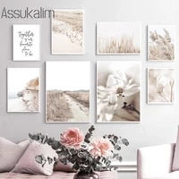 scandinavian posters flower grass print hay wall poster beach landscape wall art canvas painting nordic living room decoration