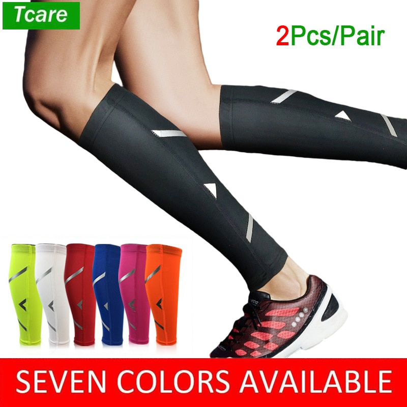 Tcare 1Pair Men/Women Cycling Leg Warmer Breathable Basketball Football Running Compression Leg Sleeve Knee Pad Sports Protector