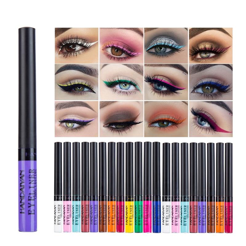 HANDAIYAN 12 Cor Fosco Sombra de Olho Cosméticos Delineador de Longa Duração À Prova D Água Sexy Charme Eye Liner Pen Venda Quente 2020 TSLM1