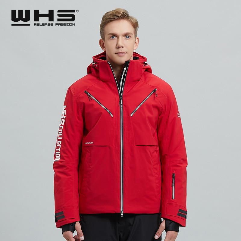 WHS Men's Outdoor Skiing Jacket   Coat Comfortable and Soft Waterproof Windbreak Coat Snowfield Windproof