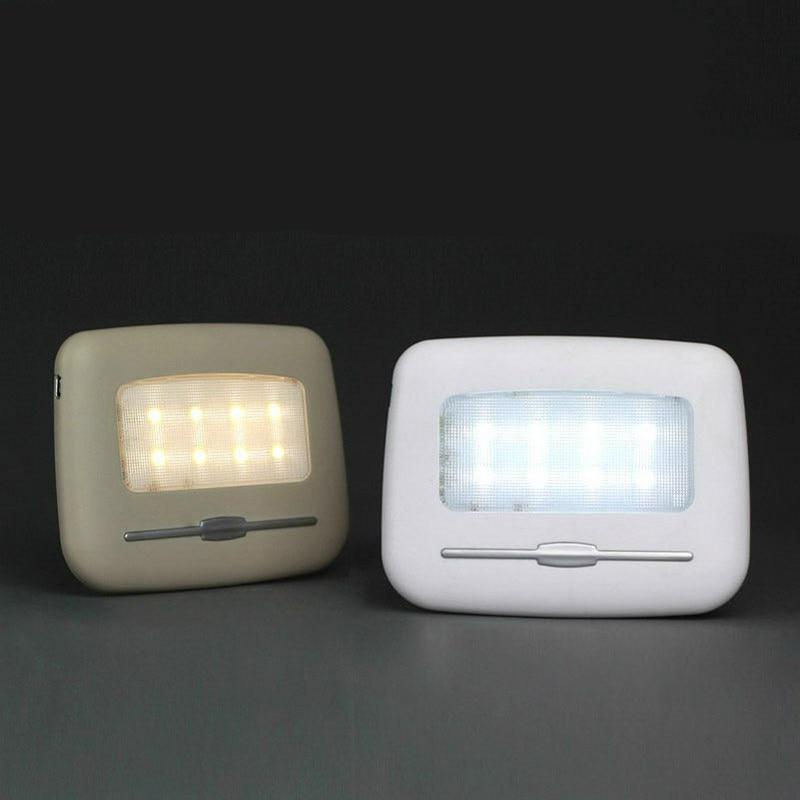 Автомобильные лампы для чтения, высокояркий светодиодный ночник, 6500 К, чистый белый, 3500 К, теплый, желтый, светодиодный, автомобильные лампы