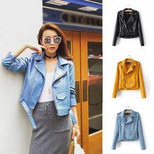 3 PCS Fashion Jacket 1PC Faux Leather Street Coat Short Soft Zipper Motorcycle Ladies Basic Women 20