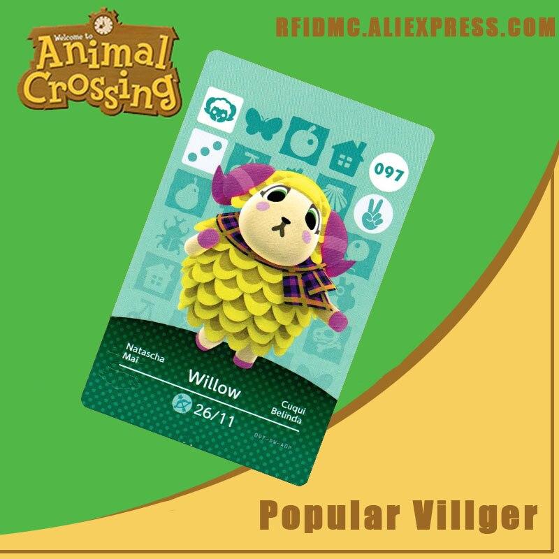 097 Tarjeta de cruce Animal de sauce Amiibo para Nuevos Horizontes