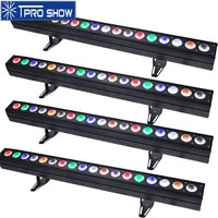 4pcs DJ LED Bar Pixel Control 18x15W RGBWA LED Wall Wash Light Dmx Linear Lighting Uplighting For Disco Stage Party Club 2Option