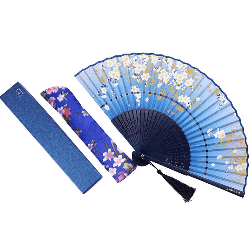 Abanico de seda chino clásico Para mujer, Abanicos plegables de seda Para...