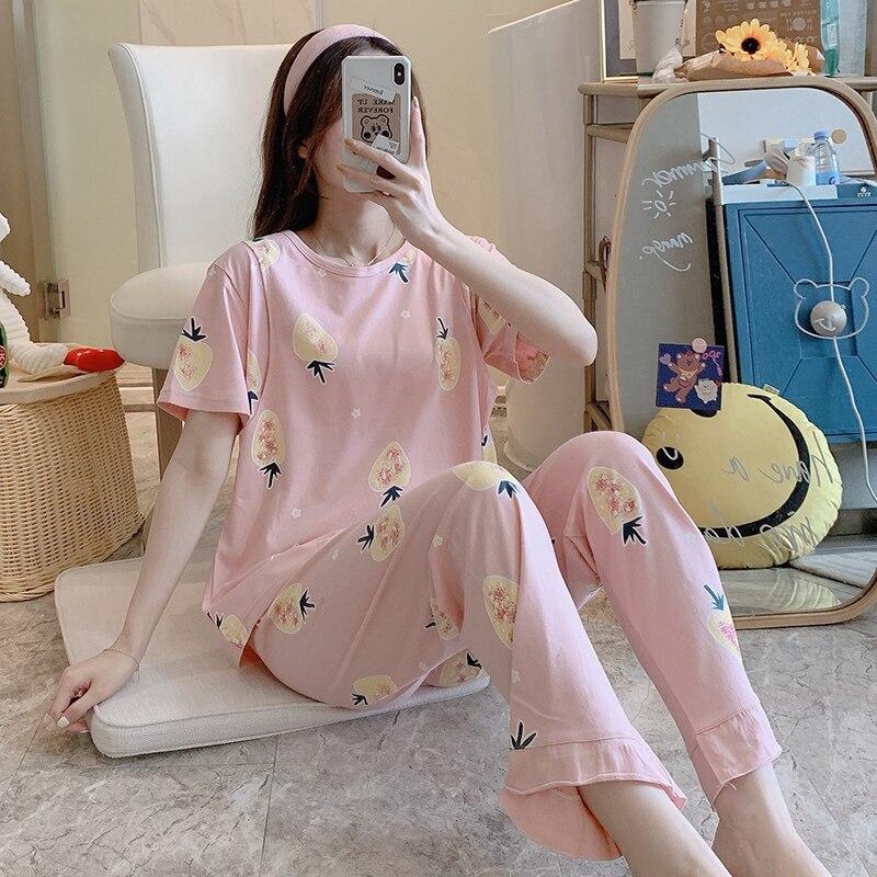 Puls Maternity Women Clothes 2020 Summer Breastfeeding Pajamas Set for Pregnancy Women Cotton Autumn Trousers 3pcs Sleepwear enlarge